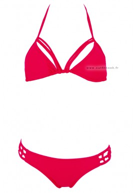 Red triangle swimsuit